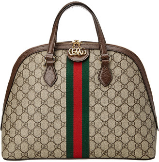 Gucci Ophidia Medium Gg Supreme Canvas & Leather Shoulder Bag