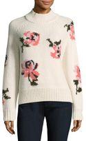 Rebecca Taylor Intarsia Floral Sweater