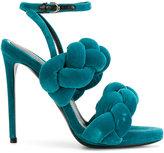 Marco De Vincenzo braided sandals - women - Leather/Velvet - 36