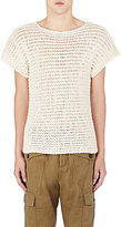 Loewe Men's Open-Stitched Sweater-IVORY