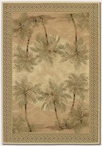 Couristan Everest Palm Tree Rug In Desert Sand - 2 Foot 7 Inch x 7 Foot 10 Inch Rn