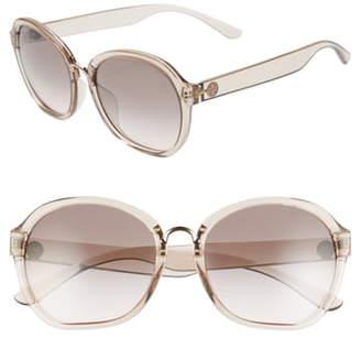 Tory Burch 56mm Transparent Round Sunglasses