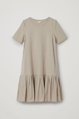 Cos Gathered Panel Cotton Dress
