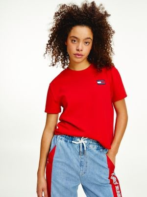 Tommy Hilfiger Tommy Badge Cropped T-Shirt