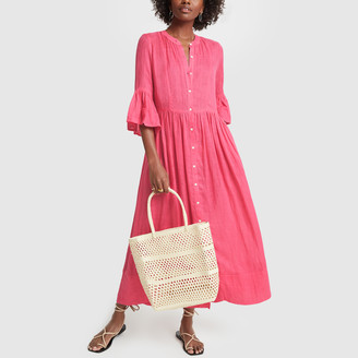 Solid & Striped Linen Button Dress