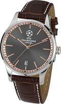 Jacques Lemans Men's Watch Analogue Quartz Leather U 57 °C UEFA Champions