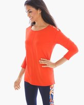 Chico's Cage-Shoulder Tunic