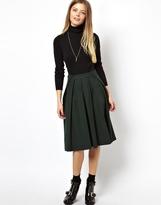 ASOS Midi Skirt with Pleat Detail