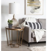 Everly Denison Round Wood and Metal End Table Quinn