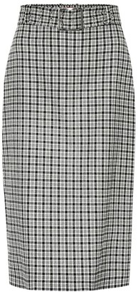 Altuzarra Checked wool-blend skirt