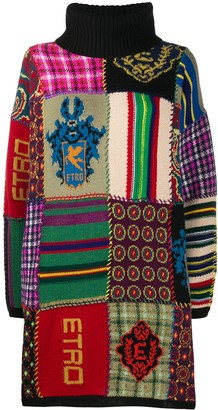 Etro Patchwork Roll-Neck Jumper