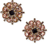 Kate Spade Gold-Tone Crystal Flower Stud Earrings