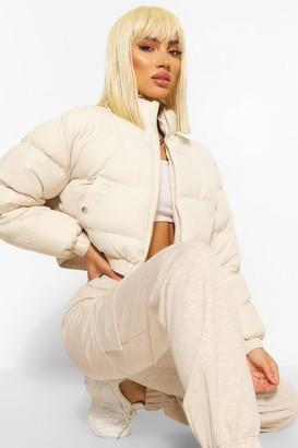 boohoo Crop Puffer Jacket