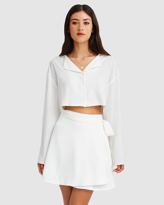 Belle & Bloom Women's White Mini Dresses - Before You Go Skirt Set - Size One Size, XS/S at The Iconic