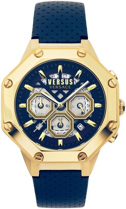 Versus By Versace Palestro Chronograph Leather Strap Watch, 45mm