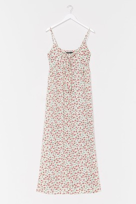 Nasty Gal Womens Rose Above It All Floral Maxi Dress - White