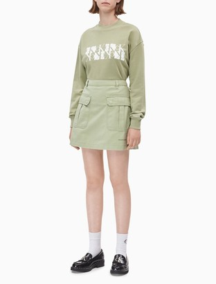Calvin Klein Mirror Monogram Logo Organic Cotton Sweatshirt