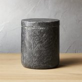CB2 Large Black Marble Canister
