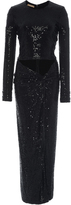 Michael Kors Paillette Cutout Sarong Dress