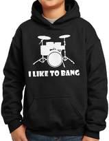 Nutees I Like To Bang Drummer's Drum Set Unisex Kids Hoodie - 14/15 Years