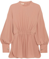 Marni Gathered Crepe De Chine Top - Blush