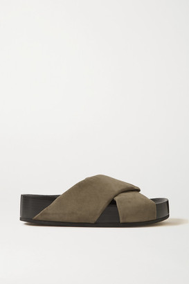 Co Suede Slides - Army green