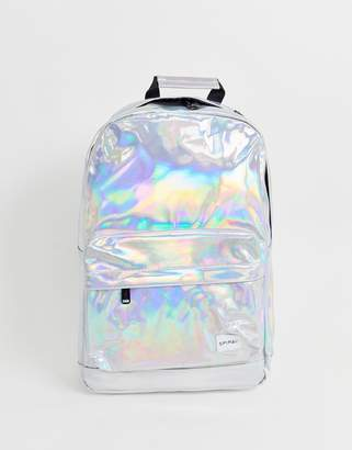 Spiral Platinum backpack in silver rave