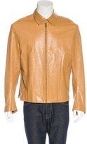 Theory Leather Zip Jacket