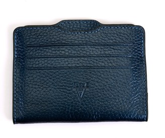 Atelier Hiva Double Card Holder Metallic Navy Blue & Metallic Navy Blue