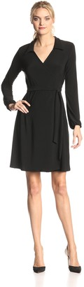 Star Vixen Women's Long Sleeve Fullwrap Dress
