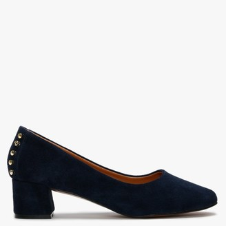 Df By Daniel Yenta Navy Suede Studded Court Shoes