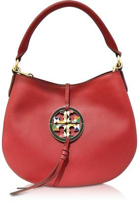 Tory Burch Apple Red Miller Mini Hobo Bag