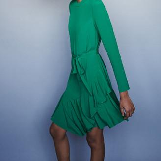 Maje Asymmetrical crepe dress
