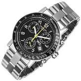 Raymond Weil W1 - Black Stainless Steel Chronograph Watch w/ Tachymetre