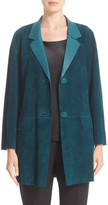 Lafayette 148 New York &Carson& Suede Jacket