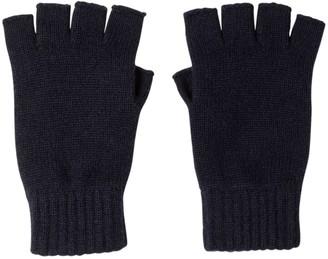 Johnstons of Elgin Fingerless Cashmere Gloves Navy
