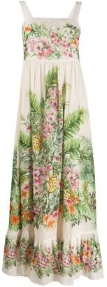 Twin-Set floral-print maxi dress
