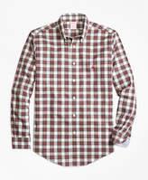 Brooks Brothers Non-Iron Regent Fit Dress Stewart Tartan Sport Shirt