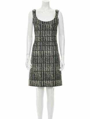 Zac Posen Silk Knee-Length Dress Grey