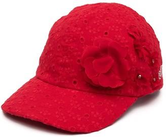 MonnaLisa Perforated Floral Cap