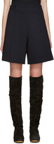See by Chloe Navy Buttoned Shorts