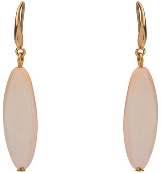 David Lawrence Shell Oval Earring Pale