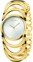 Calvin Klein Women's Gold Body Stainless Steel Watch K4G23526 band color: Gold, Dial color: Silver