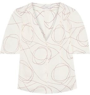 Joie Cadell B Printed Crepe De Chine Blouse