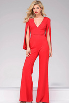 Jovani Hanging Sleeve Knit Jumpsuit 49723