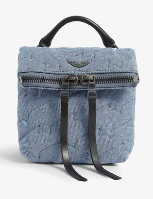 Zadig & Voltaire Romy quilted denim mini backpack