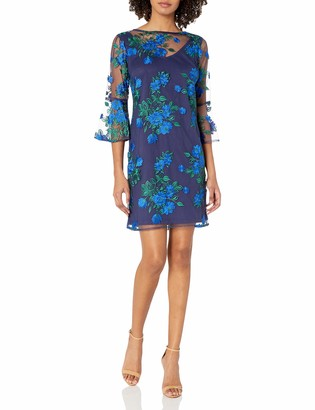 Chetta B Women's Embroidered Bell Sleeve Dress