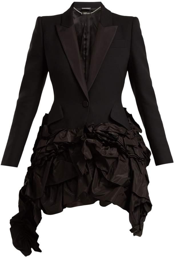 Alexander McQueen Notch-lapel single-breasted ruffle jacket