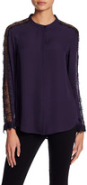 The Kooples Lace Detail Long Sleeve Shirt