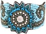 Marc Labat 14e39 indi-chic – Metal Silver Tone Glass Pearl Bracelet – 18 cm